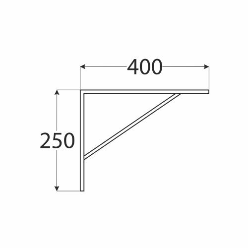 WSWP 400 konzole zpevněná 250x400 bílá 1