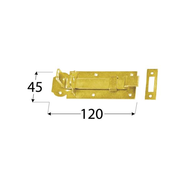 "WZW 120 Zástrč zamykací typu ""Z"" 120x45x5,0 mm 1"