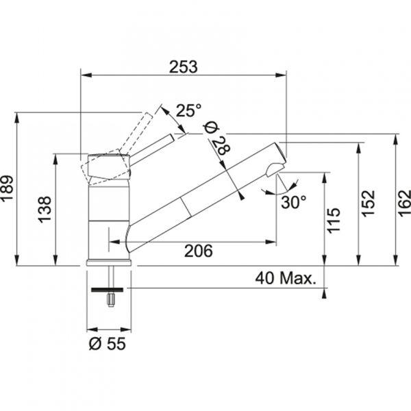 Baterie FG 7486.084 šedý kámen/chrom 2