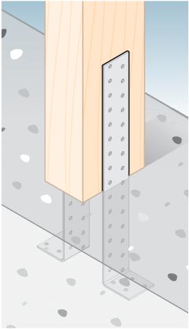 KK1 – úhelník kotevní 200x40x40x2,0 mm