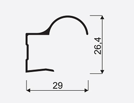 Madlo S Focus II 16mm stř. nasouvací 03840, délka 2,7m 1