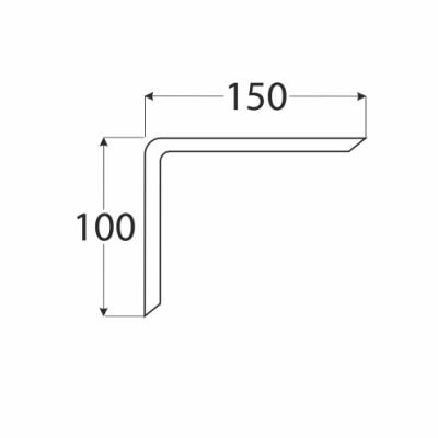 WDG 150 konzole 100×150 překližka ohýbaná, buk
