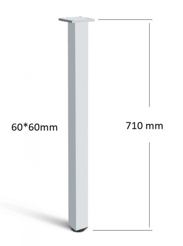 Stol.noha ctvercová 60*60*710 AL hliník 1