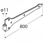ZAP 800 Závěs pásový dekorační 800x4 1