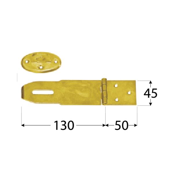 ZZK 50 Závěs zamykací krytý 180x45x2,0 mm 1
