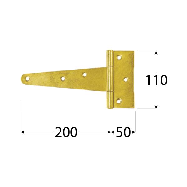 ZT 200 Závěs trojúhel. 200x50x110x2,5 mm 1
