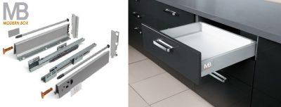 Modern box A 96,5/350mm nízký šedý