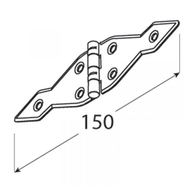 ZATS 150 Závěs trojúhelníkový 150x1,6 1