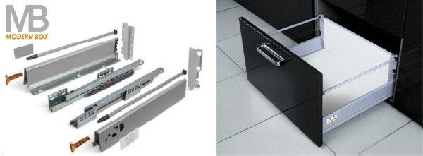 Modern box C 224/450mm + reling vysoký šedý 1