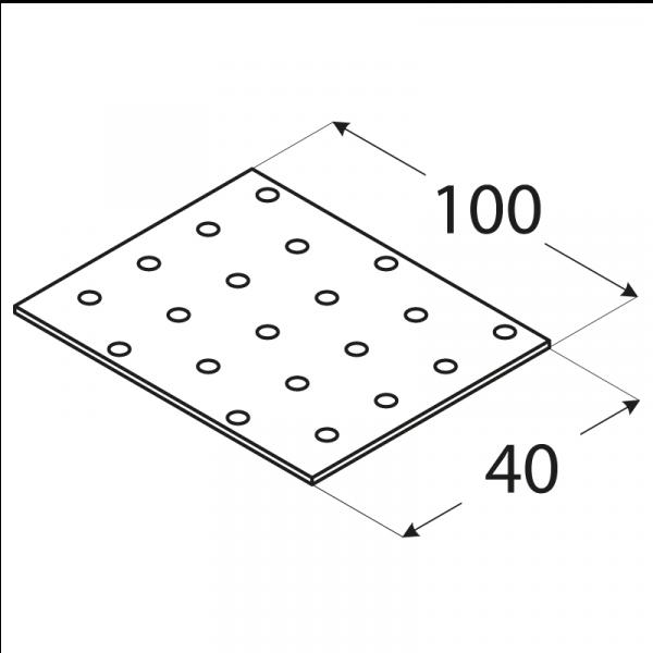 PP2 - destička perforovaná 100x40x2,0 mm 1