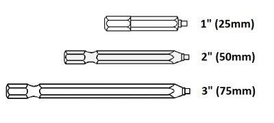 Bit Uniquadrex R-0/2 dlouhy 50mm – profi