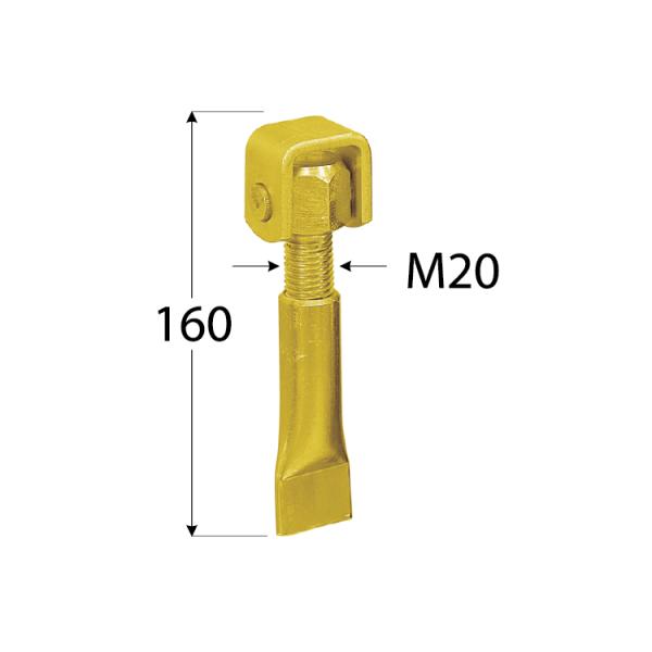 ZRM 20 Závěs stavitelný do zdi M20 1