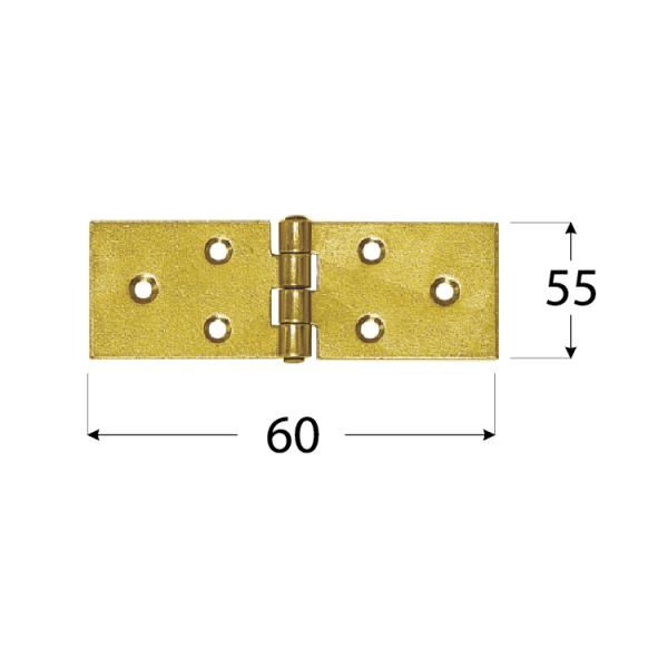 Z 60 Závěs stavební 60x55x2,5 mm 1