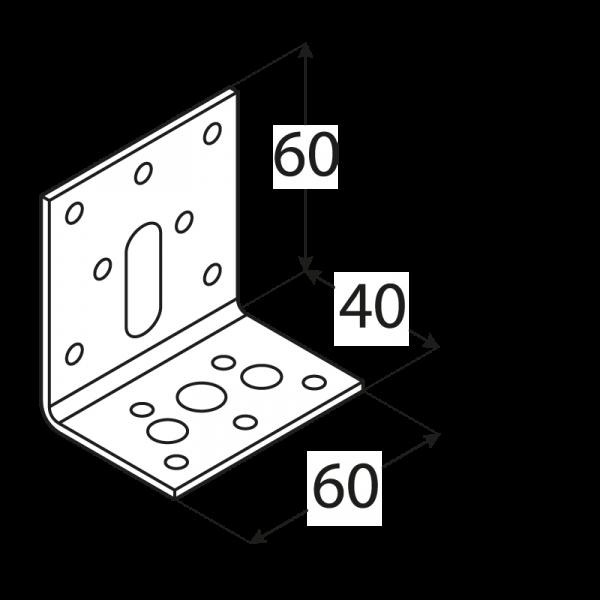 KR 2 - úhelník stavitelný 40x60x60x2,5 mm 1