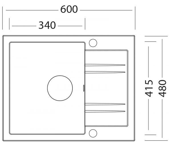 DrezS - SET drez Linea 600N + baterie MIX 350P chrom 1