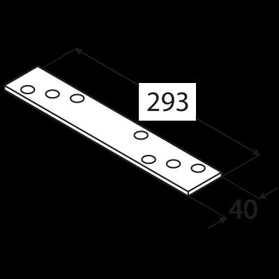 LG3 – spojka tlustá 293x40x5,0 mm