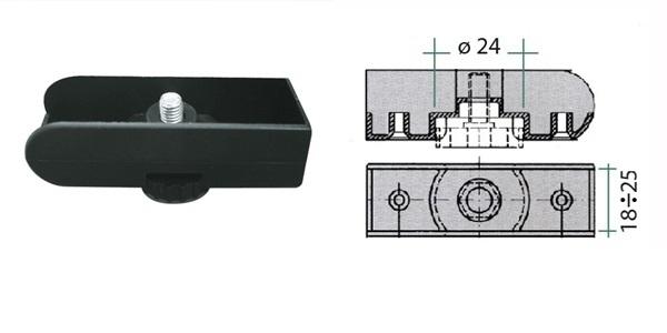 Patka regulační pro desku 18mm 1