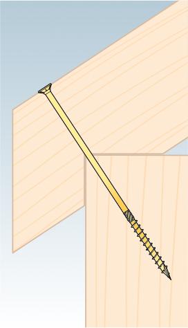 CS 08160 tesařský vrut se zapuštěnou hlavou  8×160 50kus/bal