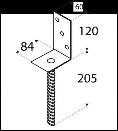 """PS  84L (84*130*5) Patka 84 typu """"L"""""""