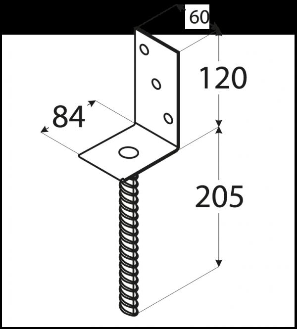 """PS 84L (84*130*5) Patka 84 typu """"L"""" 1"""
