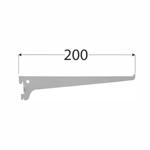 WSS 200s systémová konzola jednoduchá 200 mm šedá 1