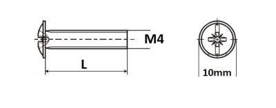 Sr.okrasny M4 x 25