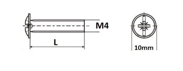 Sr.okrasny M4 x 25 2