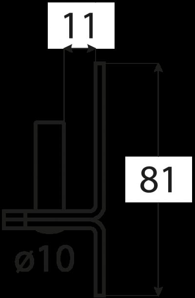 C 10/11    držák čepu  d 10 mm /11 mm