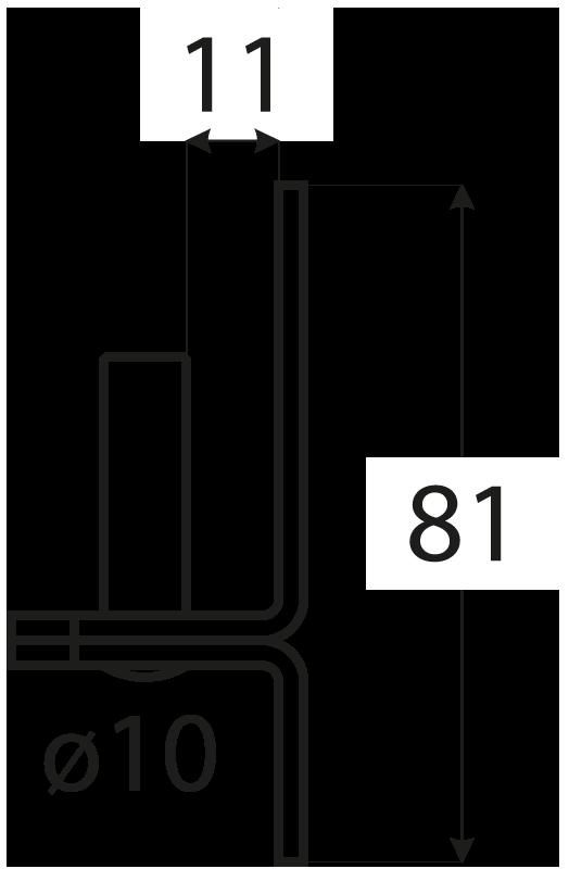 C 10/11 držák čepu d 10 mm /11 mm 1