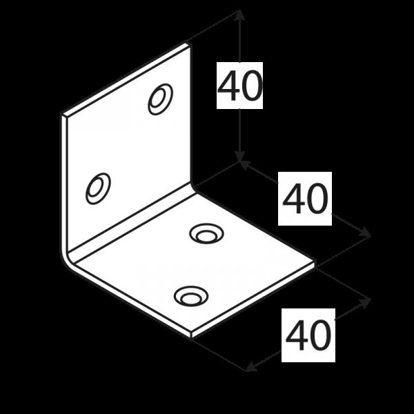 KS2 - úhelník široký 40x40x40x1,5 mm 1