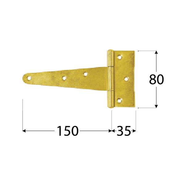 ZT 150  Závěs trojúhel. 150x35x80x2,0 mm 1