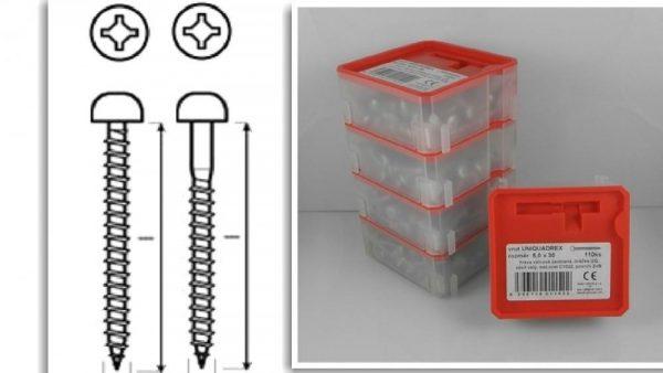 Qbox 5,0 x 50 UQ ZnB PAN Q - box 75ks pulk.hlava 1