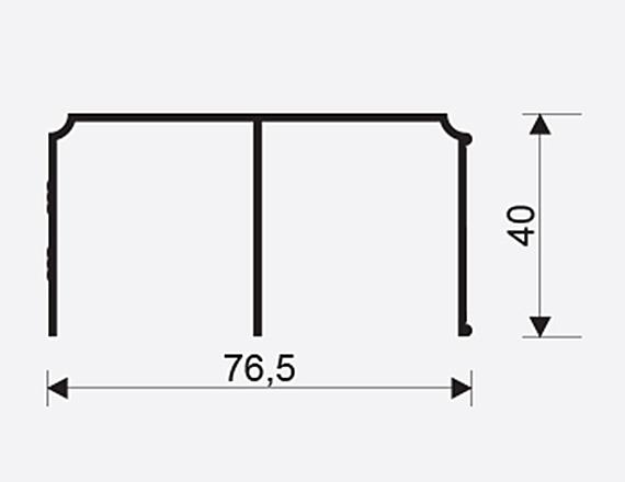 Horni vedeni Gem. oliva 1.70m 1