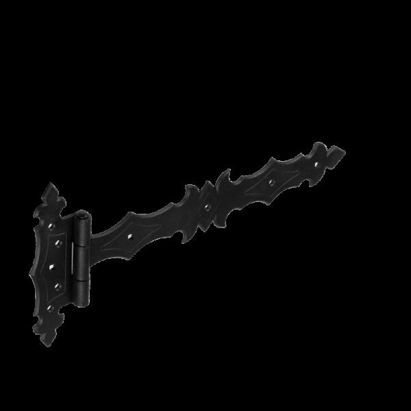 ZBD 300 C Závěs brankový ozdobný 300x45x90x3,0 mm černý 3