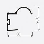 Madlo S Factor 18mm stř. nasouvací 04549, délka 2,7m 1