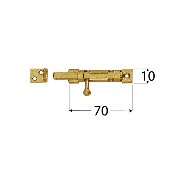 WOS 70 Zástrč s kulatým jezdcem úzká 70x10 mm 1