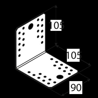 KL5 – úhelník spojovací 105x105x90x2,5  mm