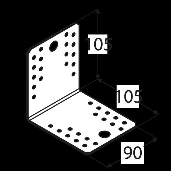 KL5 - úhelník spojovací 105x105x90x2,5 mm 1