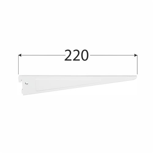 WSD 200b systémová konzola dvojitá 220 mm bílá 1