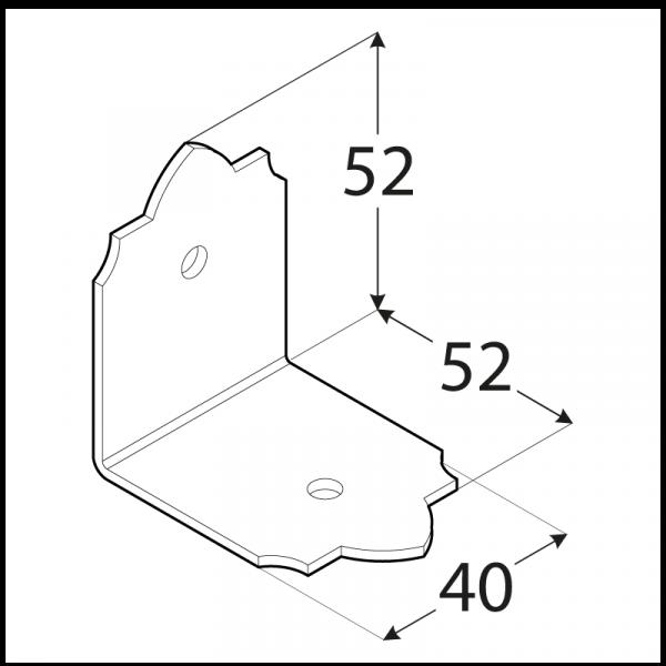 SDSKW 8  Úhelník C 52x52x40x2,0 2