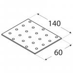 PP5 - destička perforovaná 140x60x2,0 mm 4