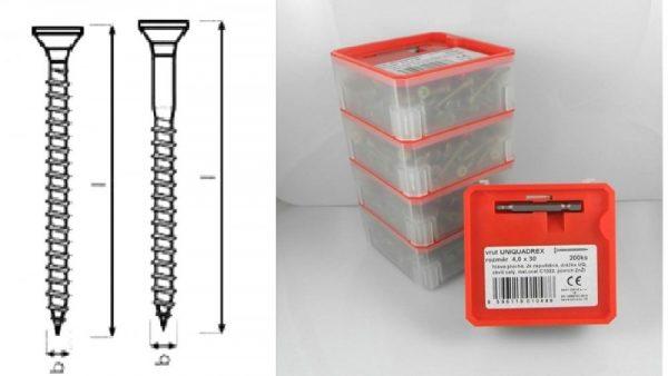 Qbox 4,0 x 35 UQ ZnB Q - box 150ks 1