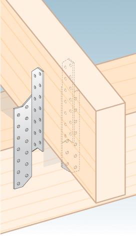 LK3 – krokvová spojka levá 32x210x2,0 mm