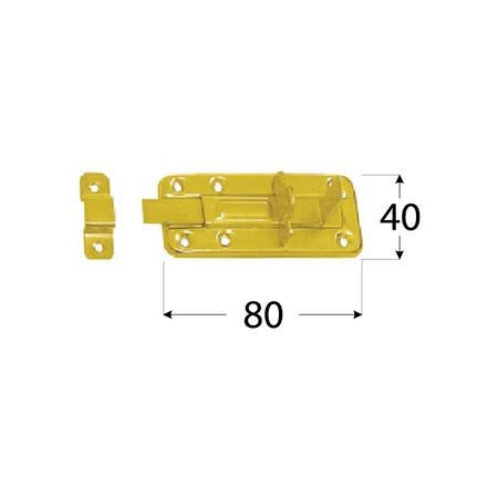 WZTW 80 Zástrč lisovaná zamykací jednod. 80x40x1,0 mm 1