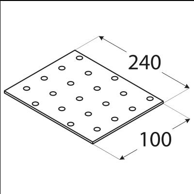 PP13 – destička perforovaná 240x100x2,0 mm