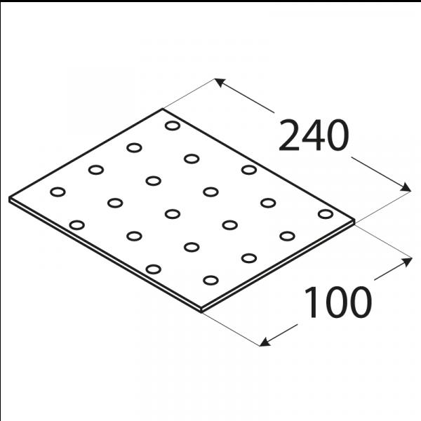 PP13 - destička perforovaná 240x100x2,0 mm 1