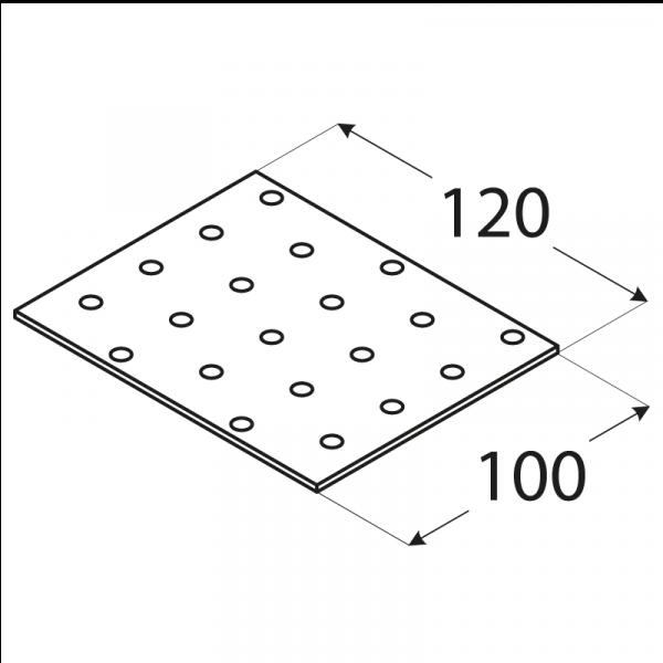 PP31 - destička perforovaná 100x120x2,0 mm 1