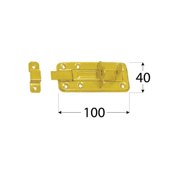 WZTW 100 Zástrč lisovaná zamykací jednod. 100x40x1,0 mm 1