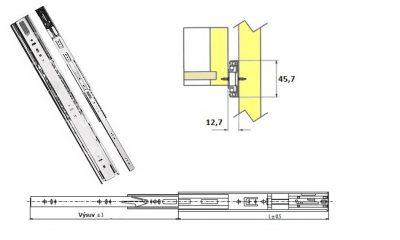 Plnovysuv 450mm V kul. s tlum./dotahem