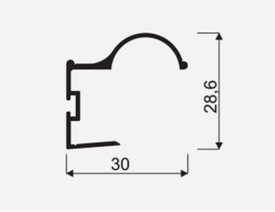 Madlo S Factor 18mm oliva nasouvací 04548, délka 2,7m